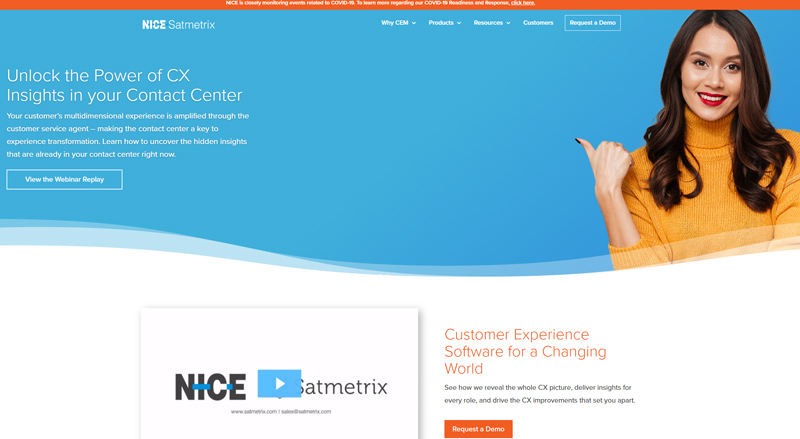Satmetrix home page