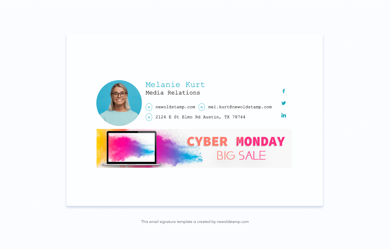 Email Signature with Cyber Monday Banner