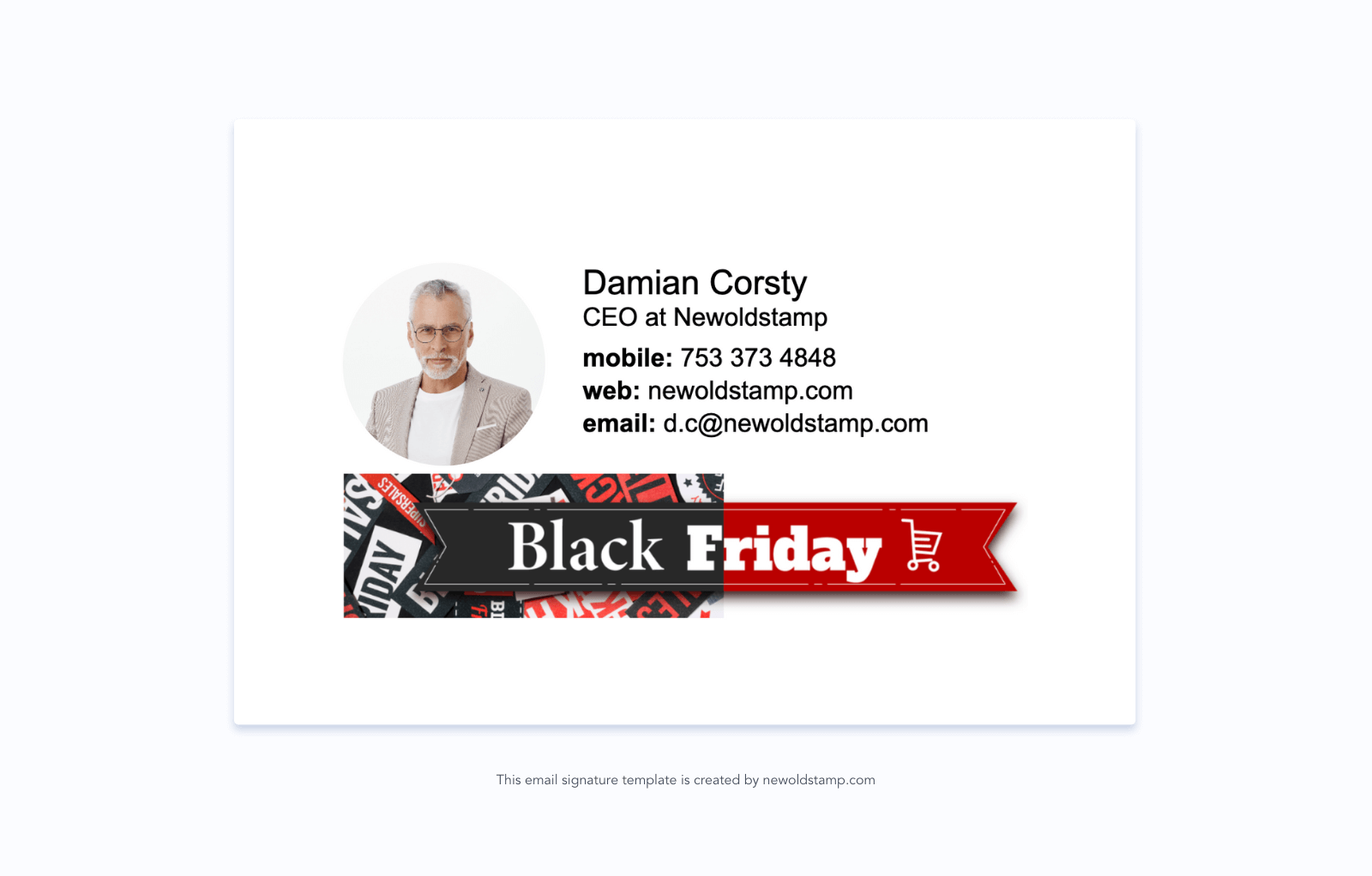 Email Signature with Black Friday Banner