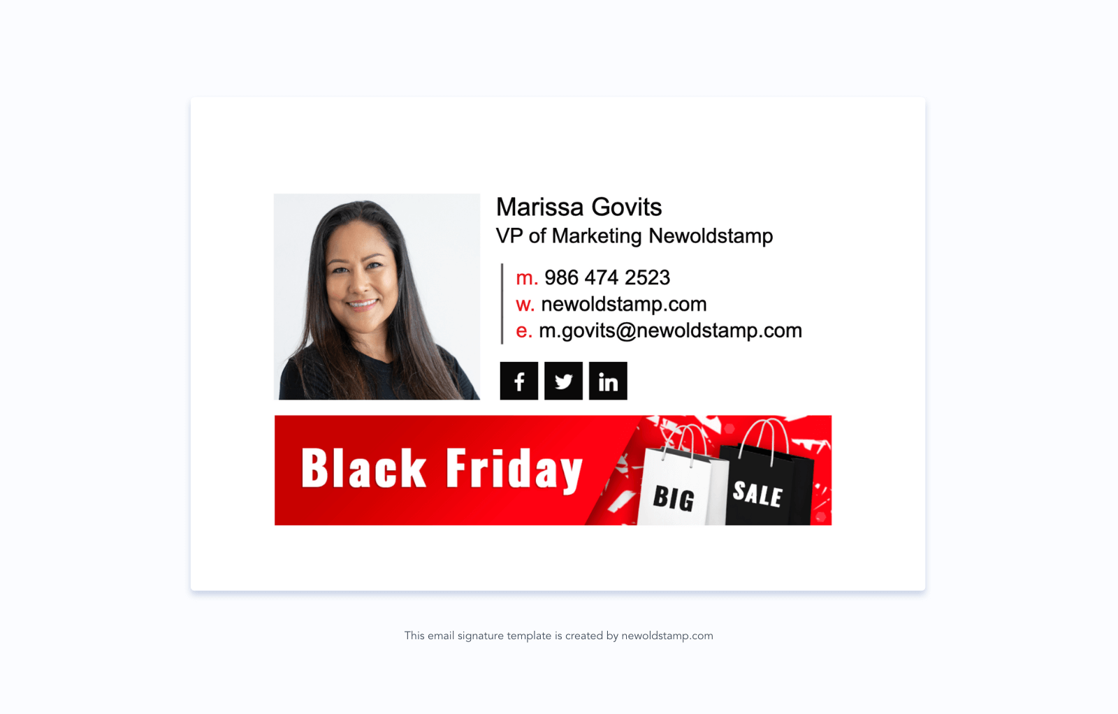 Black Friday email signature banner