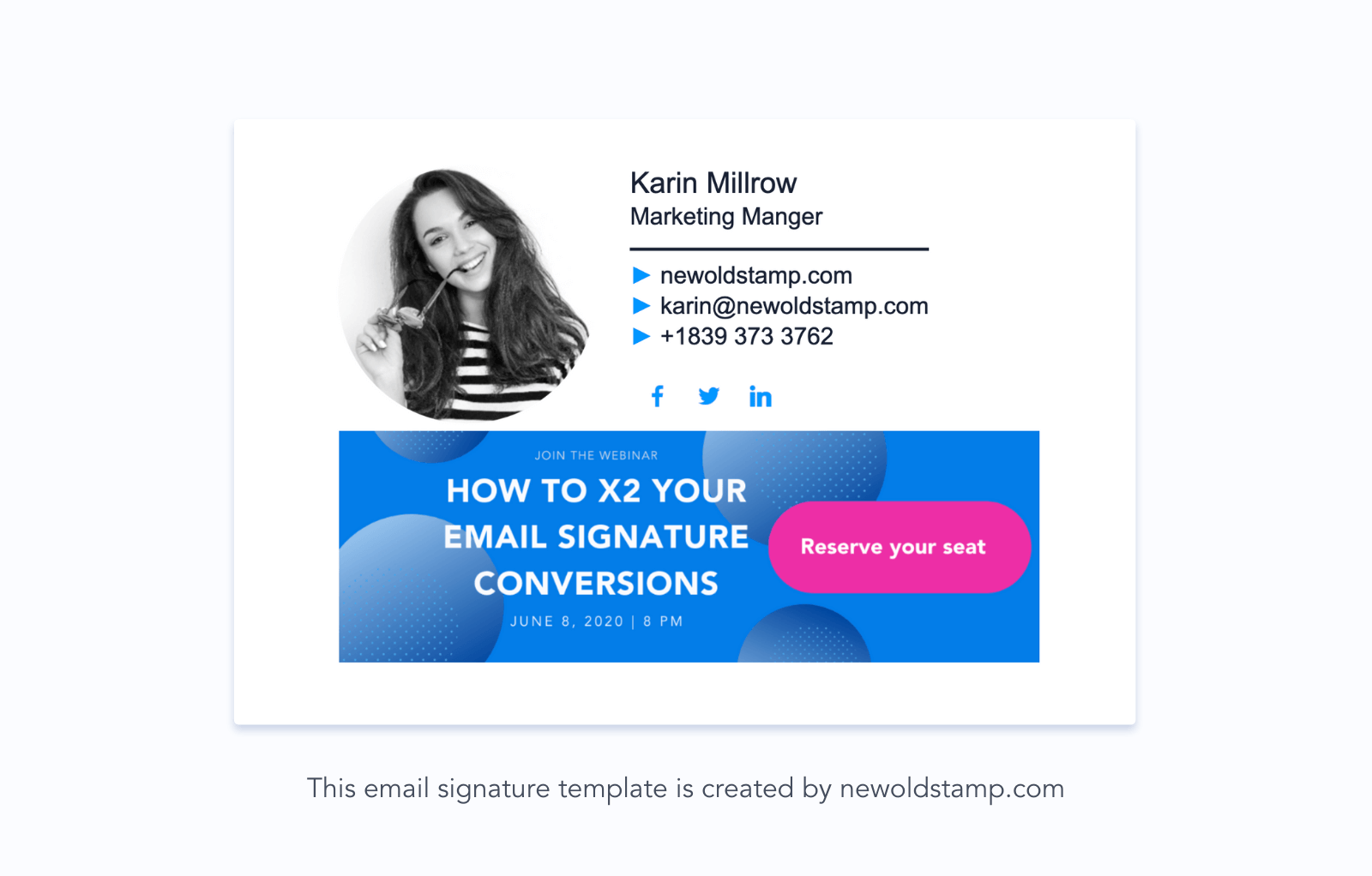 email signature marketing - event promotions