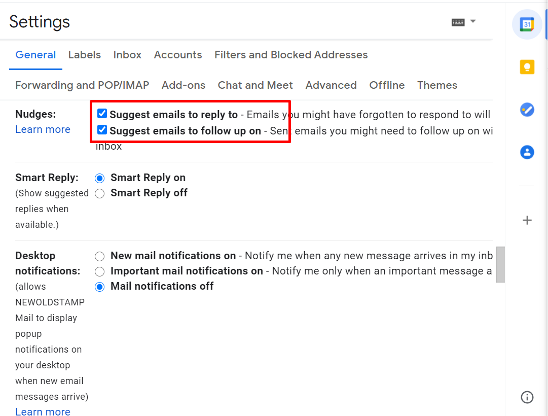 Suggest emails to reply to in Gmail