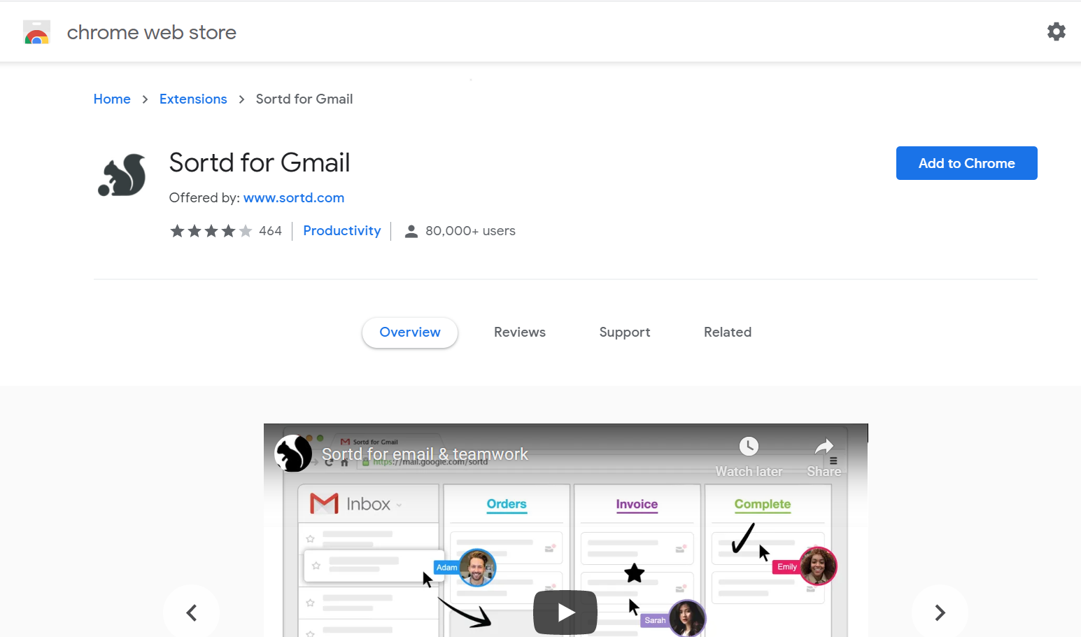 Sortd for Gmail