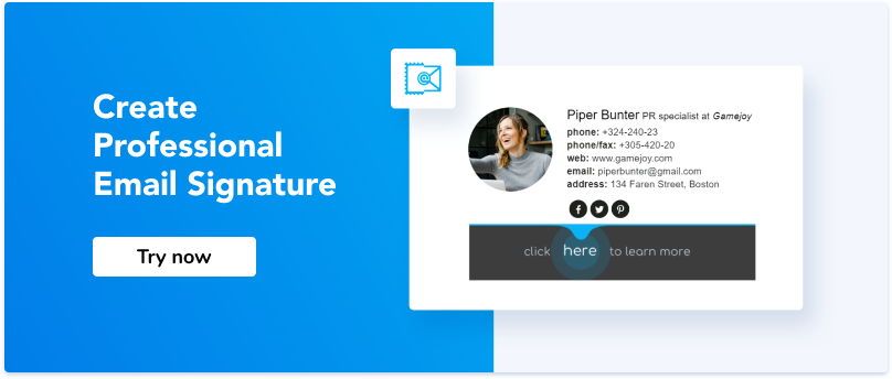 Try now email signature generator