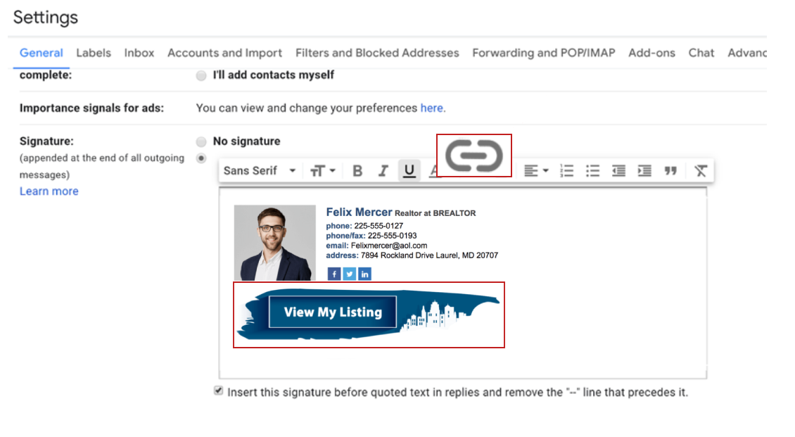 How to Insert a Hyperlink in Your Email Signature