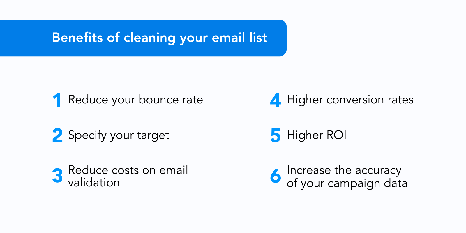 Benefits of cleaning email list