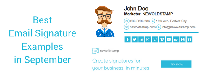 Best Email Signature Examples In September