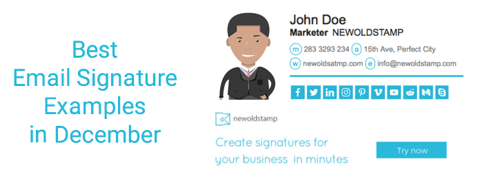 Best Email Signature Examples In December