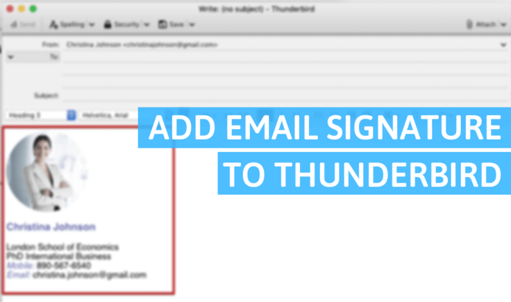 How Do You Add a Signature in Thunderbird?