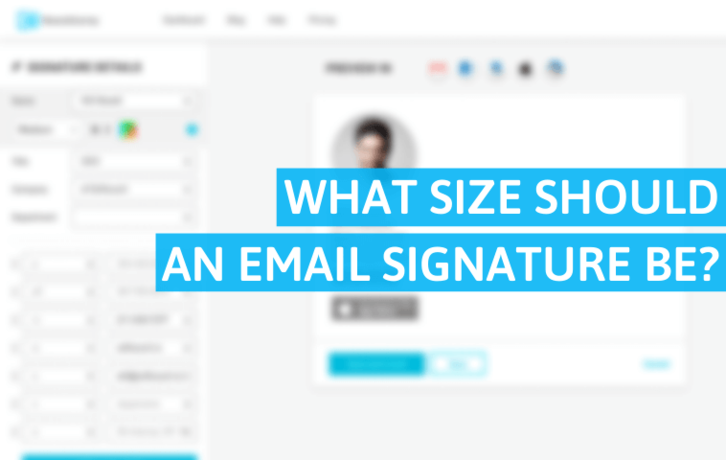 What Size Should an Email Signature Be?