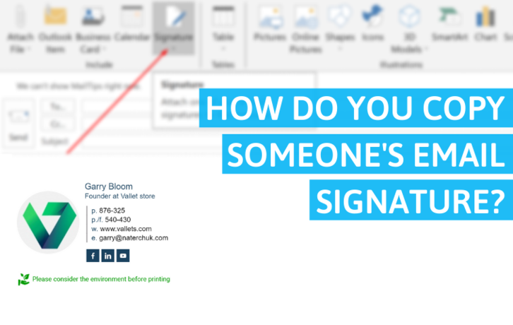 How Do You Copy Someone's Email Signature?