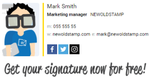 example of personalized signature with banner