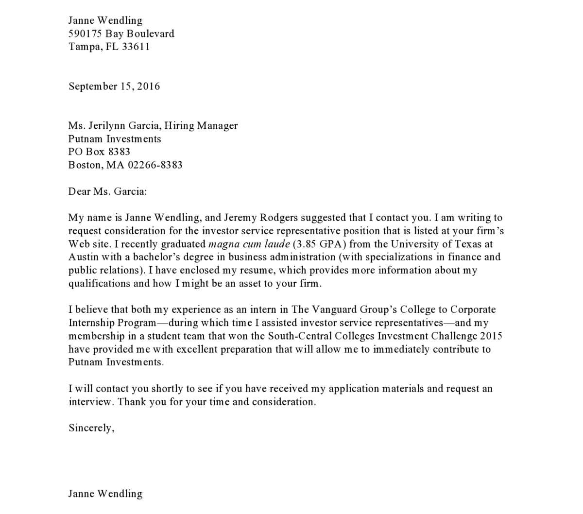 Cover Letter Referred By: Is It Still Alive?How To Write A Cover Letter To Grab