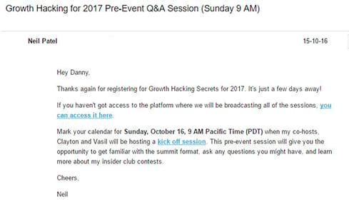 How to write a successful invitation email to burst out a great neil patel growth hacking summit product launch email stopboris