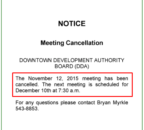 Cancellation meeting email