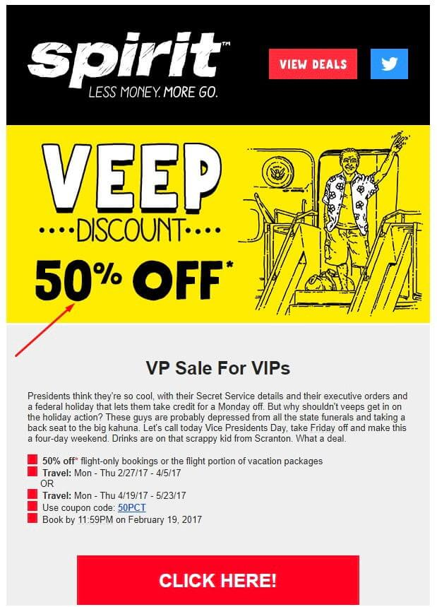 email marketing example with discount