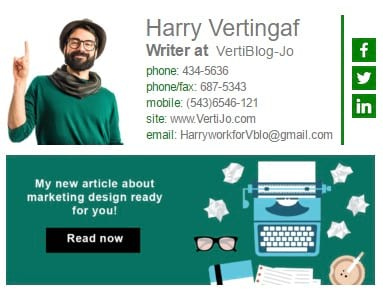 email signature for bloggers