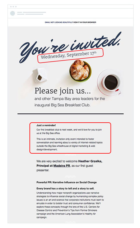 How to write a successful invitation email to burst out a great event email invitations stopboris Choice Image