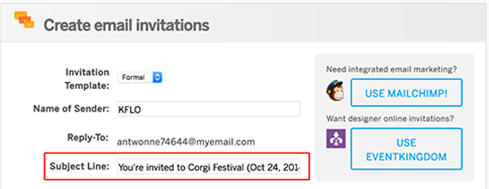 such an invitation email makes you look downright unprofessional as a host organization