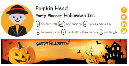 We've created several banners for the occasion. Send festive greetings to your readers or use these Halloween banners to promote special Halloween offers.