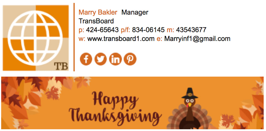Send greeting on thanksgiving newoldstamp email signature m4hsunfo